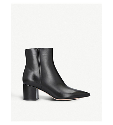 GIANVITO ROSSI Piper 60 leather ankle boots (Black