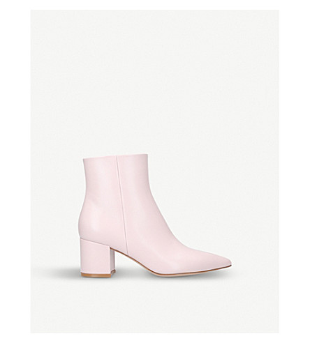 GIANVITO ROSSI Piper leather ankle boots (Nude