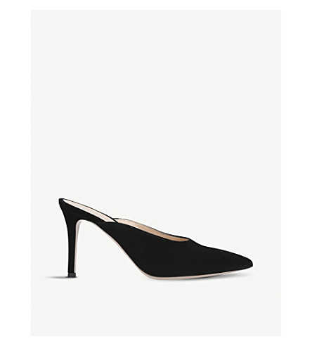 GIANVITO ROSSI Reeve backless suede mules (Black