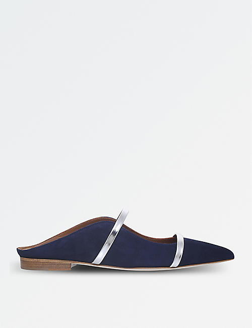 MALONE SOULIERS Maureen suede and leather flats