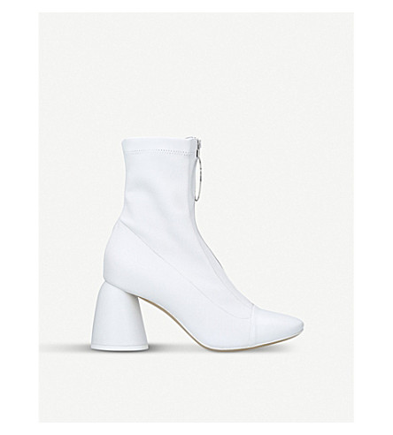 ELLERY Zipped stretch-leather boots (White