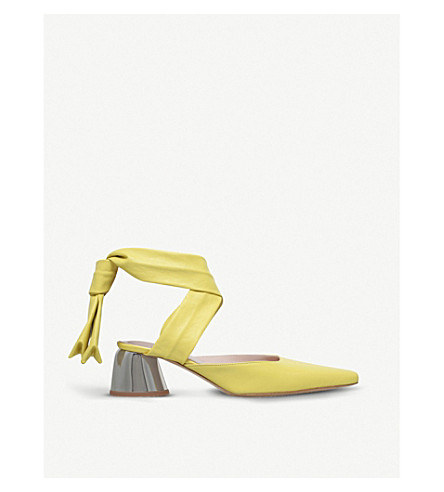 ELLERY Backless leather courts (Yellow