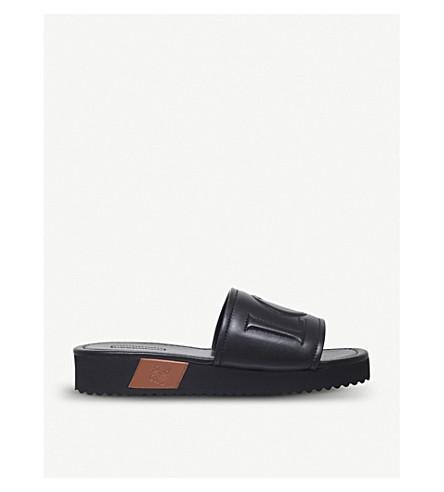 LOEWE Loewe leather sliders (Blk/brown
