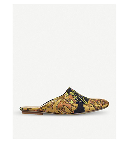 DRIES VAN NOTEN Jacquard mules (Gold