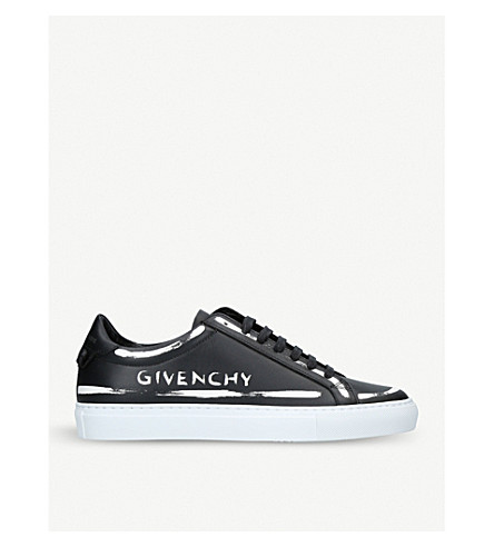 GIVENCHY Script leather trainers (Black