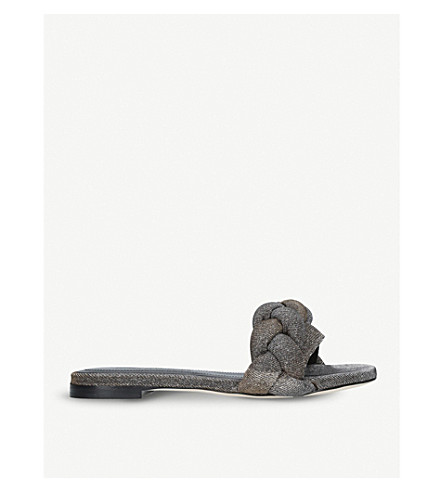 MARCO DE VINCENZO Braided metallic sandals (Metal+comb