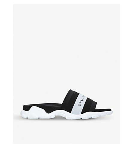 STELLA MCCARTNEY Logo-detail sliders (Blk/white