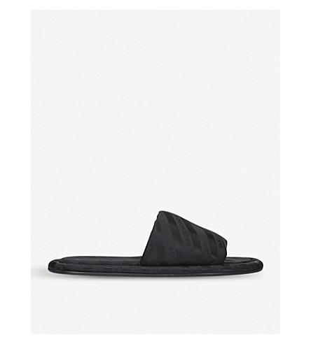 BALENCIAGA Stripe slides (Black