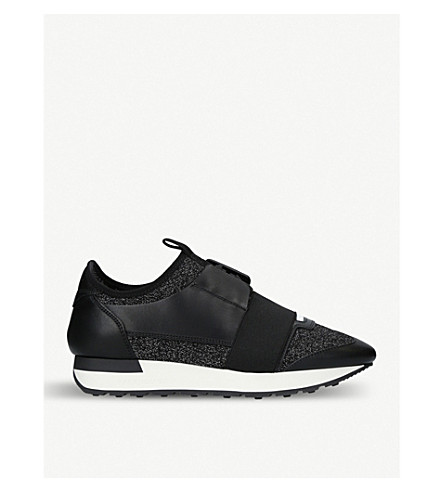 BALENCIAGA Race Runners low-top trainers (Blk/white
