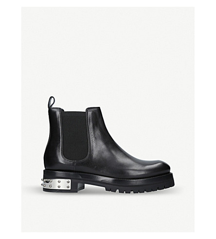 ALEXANDER MCQUEEN Leather Mod boots (Black