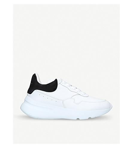 ALEXANDER MCQUEEN Runner leather trainers (White/blk