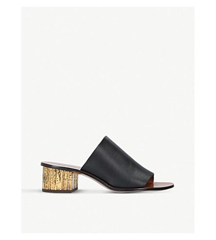CHLOE Qassie leather mules (Black
