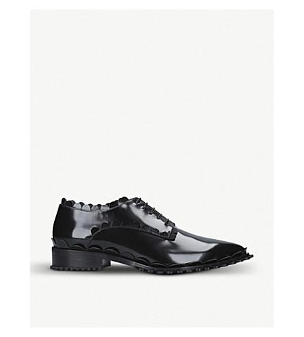 SIMONE ROCHA Scalloped leather brogues (Black