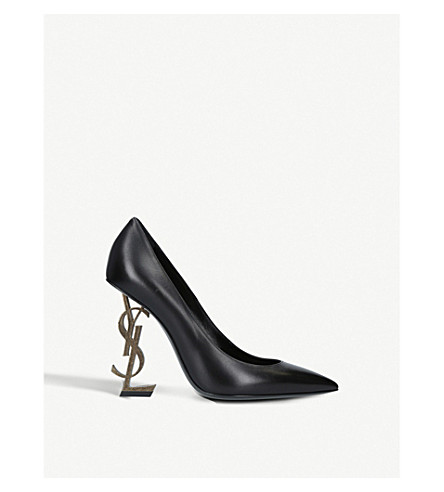 SAINT LAURENT Opyum 110 leather courts (Blk/other