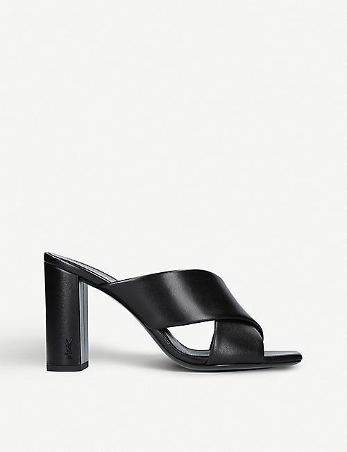 Sandals for Women On Sale, Black, Leather, 2017, 2.5 4 4.5 Saint Laurent