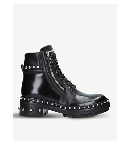 BALMAIN Army Ranger studded leather boots (Black