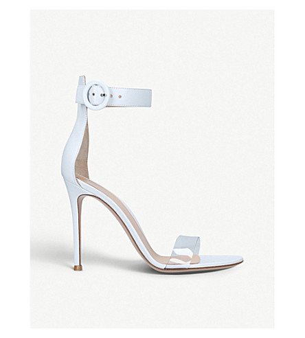 GIANVITO ROSSI Stella 85 leather heeled sandals (White/oth