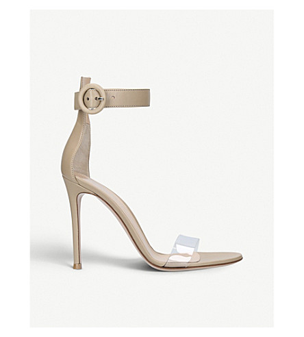 GIANVITO ROSSI Stella 85 leather heeled sandals (Beige