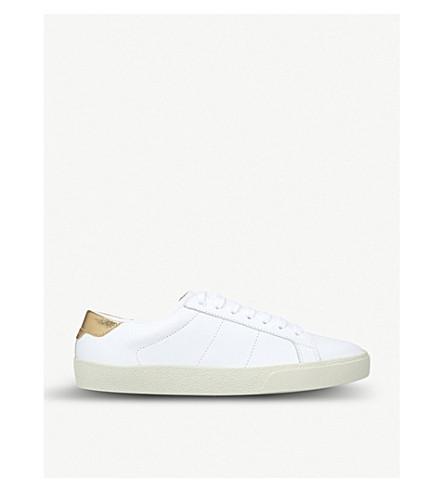 SAINT LAURENT Court Classic leather trainers (White