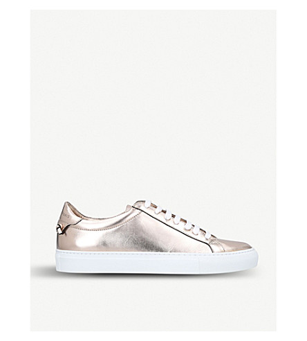 GIVENCHY Urban Sreet metallic-leather trainers (Nude