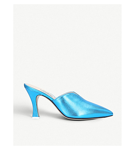 ATTICO Morena backless leather mules (Blue