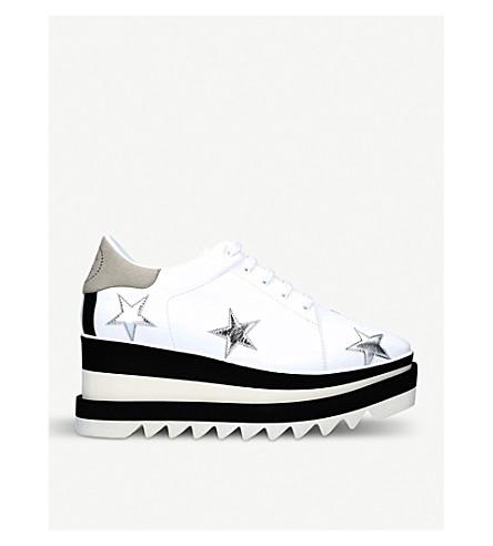 STELLA MCCARTNEY Elyse faux-leather flatform trainers (White/oth