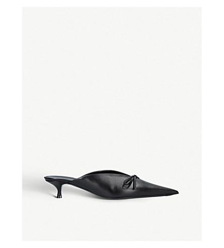 BALENCIAGA Knife bow leather mules (Black