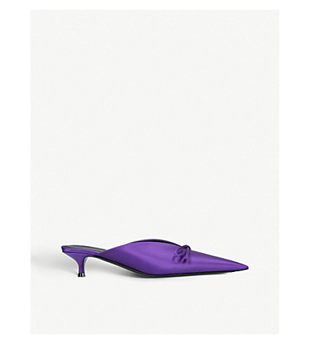 BALENCIAGA Knife satin mules (Purple