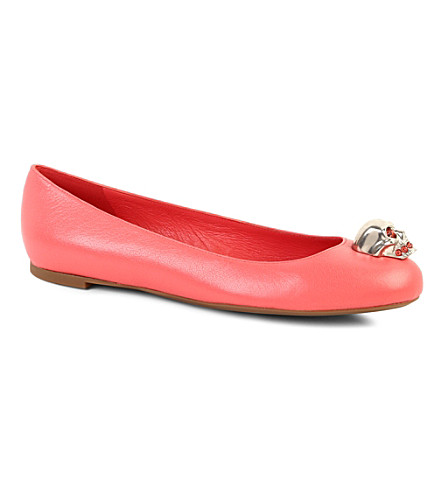 ALEXANDER MCQUEEN Rattle leather pumps (Fushia