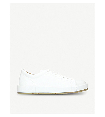 JIL SANDER Eleonor low-top leather trainers (White