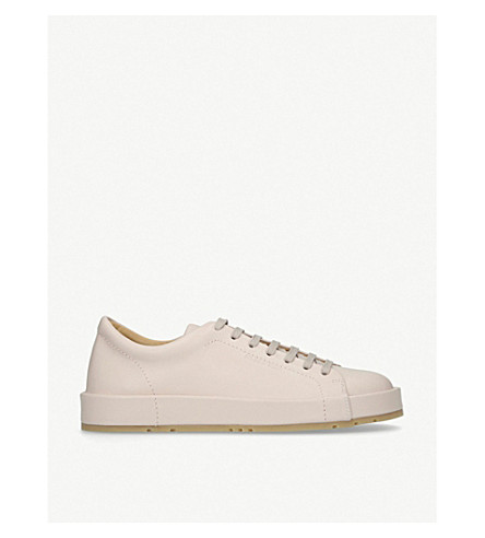JIL SANDER Eleonor low-top leather trainers (Pale+pink