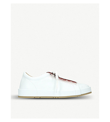 JIL SANDER Eleonor leather trainers (White