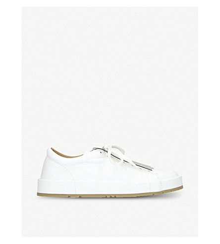 JIL SANDER Eleonor low-top leather trainers (White/comb