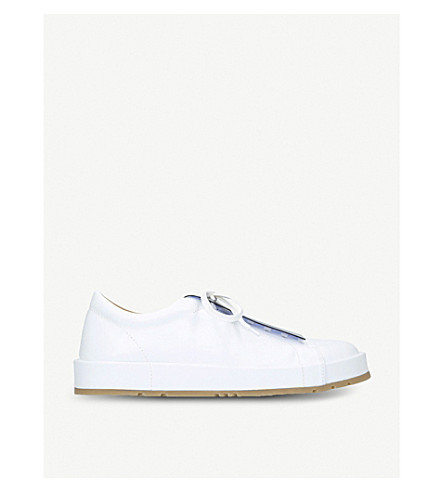 JIL SANDER Eleonor low-top leather trainers (White/oth