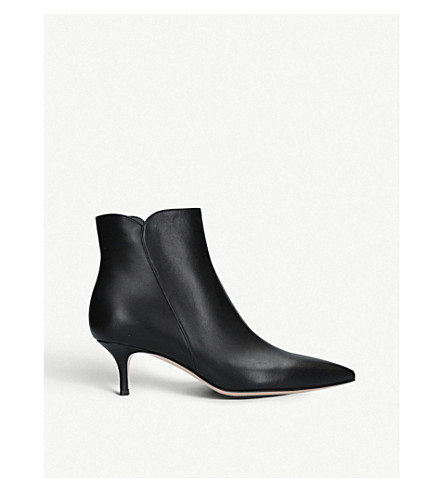 GIANVITO ROSSI Levy 55 leather ankle boots (Black