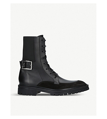 GIVENCHY Aviator 4G leather boots (Black