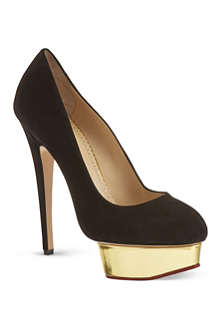 CHARLOTTE OLYMPIA Dolly metallic platform courts
