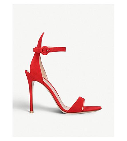 GIANVITO ROSSI 岛 105 绒面革凉鞋 (红