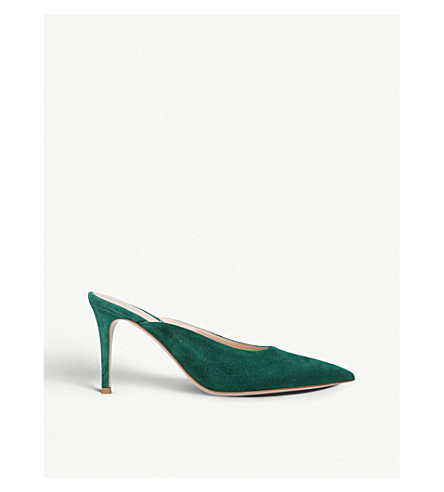 Paige 85 suede heeled mules