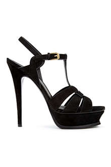 SAINT LAURENT Tribute suede platform sandals