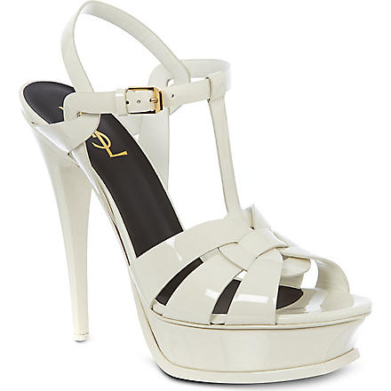SAINT LAURENT Tribute 105 sandals (White