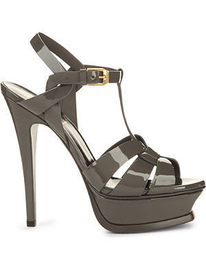 SAINT LAURENT Tribute 105 patent-leather sandals