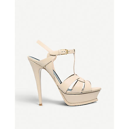 SAINT LAURENT Tribute 105 sandals (Nude