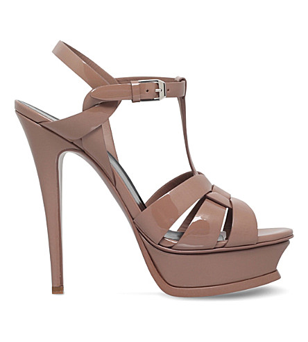 Saint Laurent Patent Leather Platform Sandals Eastbay For Sale Newest Cheap Online Cheap Eastbay Purchase Your Favorite MgNDjQd