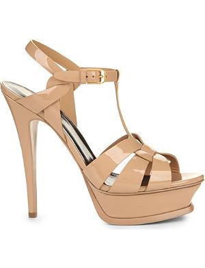 SAINT LAURENT Tribute 105 patent-leather sandals