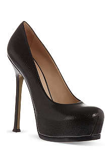 SAINT LAURENT Heeled pumps in black leather