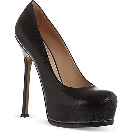SAINT LAURENT Heeled pumps in black leather (Black