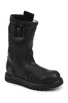 ALEXANDER MCQUEEN Button leather boots