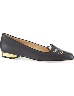 CHARLOTTE OLYMPIA Kitty leather pumps