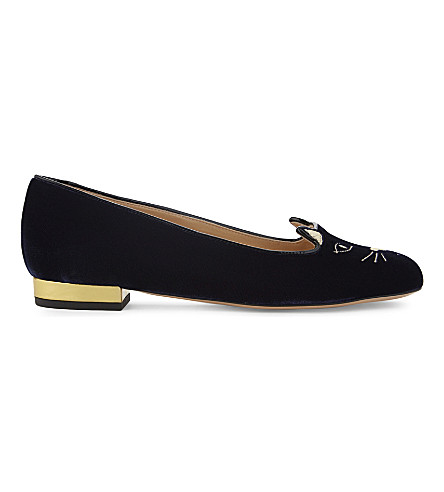 CHARLOTTE OLYMPIA Kitty pumps (Navy